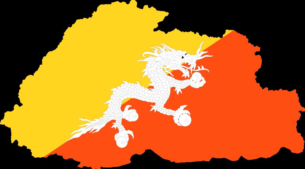 bhutan flagge bild