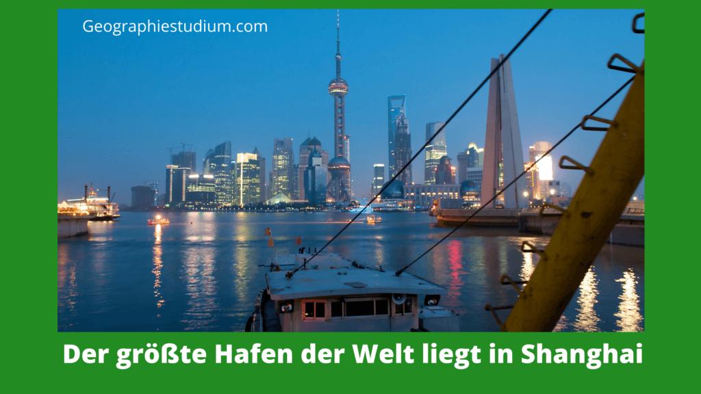 Größter Hafen der Erde Shanghai